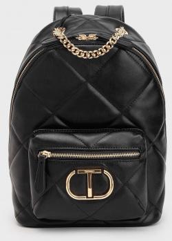 Черный стеганый рюкзак Twin-Set с цепочкой, фото