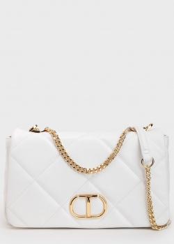 Белая стеганая сумка Twin-Set с золотистой фурнитурой, фото
