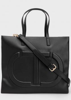 Черная сумка Twin-Set с тиснением в виде логотипа, фото