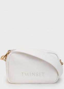 Белая сумка Twin-Set на широком ремне, фото