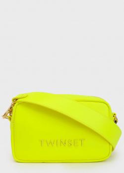 Неоновая сумка Twin-Set на широком ремне, фото