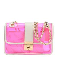 Прзрачная сумка Twin-Set розового цвета, фото