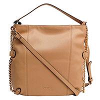 Коричневая сумка Twin-Set с декором-цепочкой, фото
