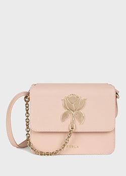 Розовая сумка Furla Tuberosa с декоративной застежкой на клапане, фото