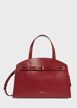 Красная сумка-тоут Furla Margherita из гладкой кожи, фото