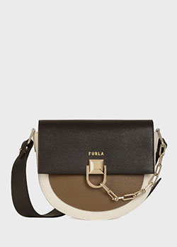 Маленькая сумка Furla Miss Mimi трехцветная, фото