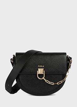 Женская сумка-седло Furla Miss Mimi с цепочкой на клапане, фото