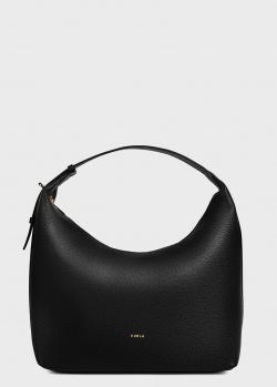 Сумка-хобо Furla Net M черного цвета, фото
