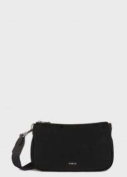 Черная сумка Furla Moon на широком ремне, фото