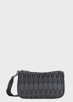 Черная сумка Furla Moon с узором, фото