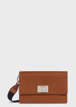 Коричневая сумка Furla 1927 прямоугольной формы, фото