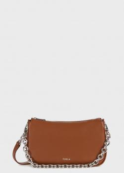 Сумка-багет Furla Moon коричневого цвета, фото