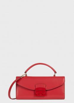 Красная сумка Furla Metropolis из гладкой кожи, фото