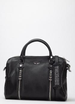 Черная сумка Zadig & Voltaire с заклепками, фото