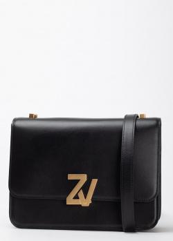 Черная сумка Zadig & Voltaire с брендовым декором, фото