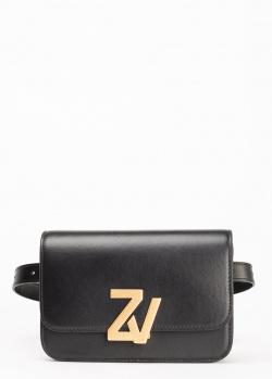 Поясная сумка Zadig & Voltaire ZV Initiale из гладкой кожи, фото
