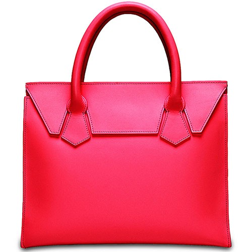 Кожаная сумка Fidelitti Boyard малиновая, фото
