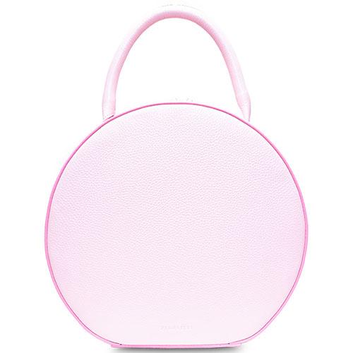 Кожаная сумка Fidelitti Tondo box-style розовая, фото