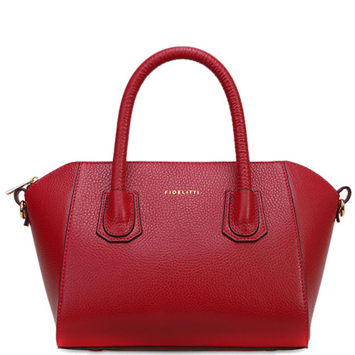 Красная сумка Fidelitti Sevilla из крупнозернистой кожи, фото