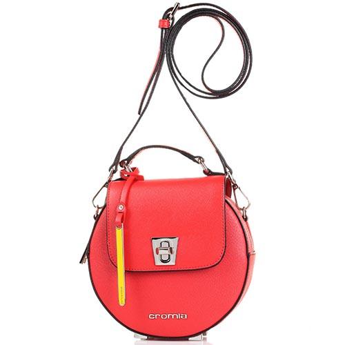 c89c433de750 Сумочка из кожи Сафьяно Cromia Perla круглой формы красного цвета, фото