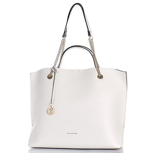 247b220ea509 ☆ Бежевая сумка Cromia Corinna из крупнозернистой кожи купить в ...