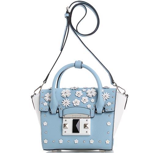 fefb779f1588 Голубая сумка Cromia It Flower с флористической аппликацией, фото