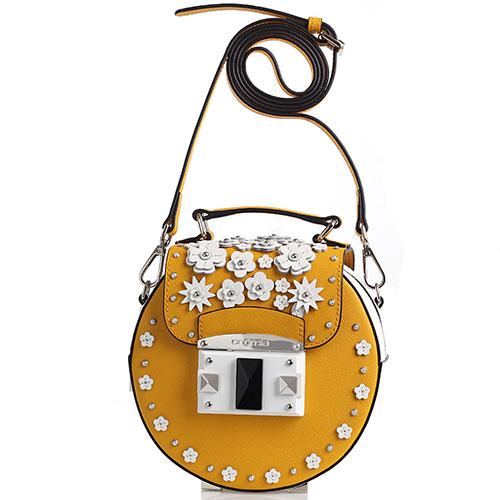 d7372818266 Желтая сумка-таблетка Cromia It Flower с аппликацией