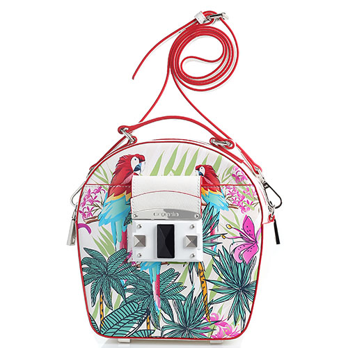 Белая сумка Cromia It Parrot с ярким принтом, фото