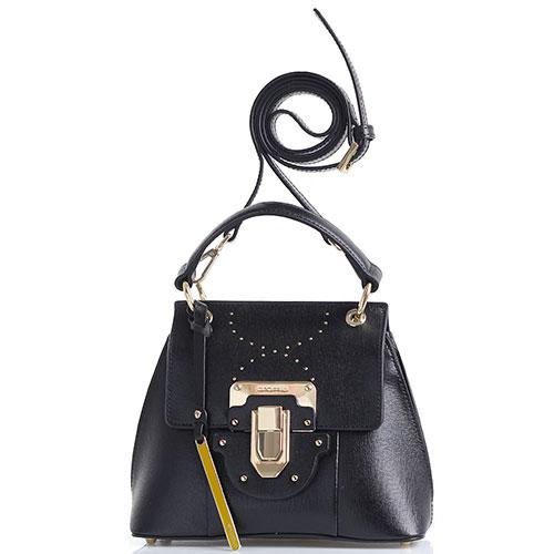 1cff3b4e746b ☆ Маленькая черная сумка Cromia Melania трапециевидной формы купить ...