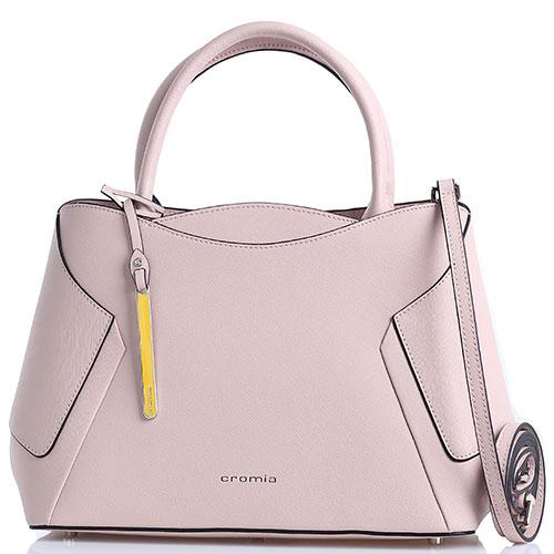 e270717e9f68 Светло-розовая сумка Cromia Wisper с декоративными строчками, фото