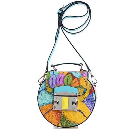 ea9e5b065a06 ☆ Яркая сумка Cromia Albero Della Felicita круглой формы купить в ...