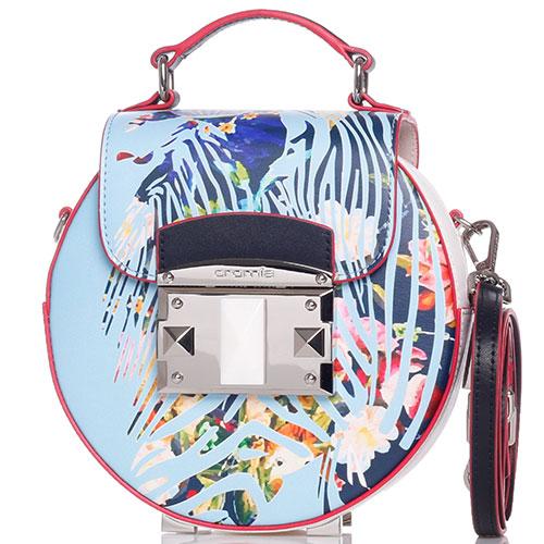 0467838a3ffc ☆ Круглая сумка Cromia It Giambya с цветочным принтом купить в ...