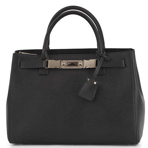 Черная сумка Cromia Sapphire со съемным ремнем, фото