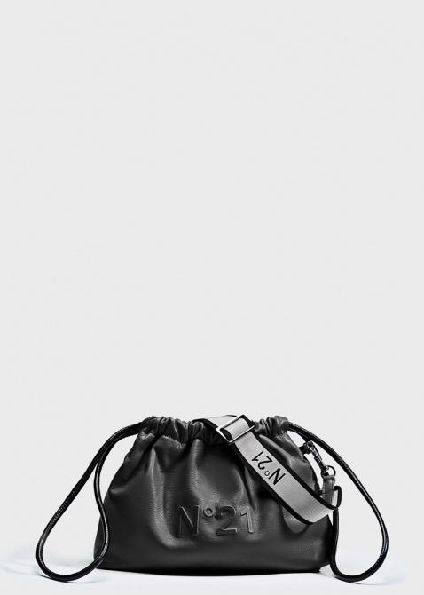 Черная сумка-мешок N21 Eva на затяжках, фото