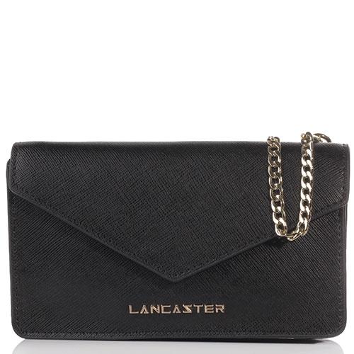 Черная сумка Lancaster Saffiano Signature из фактурной кожи, фото