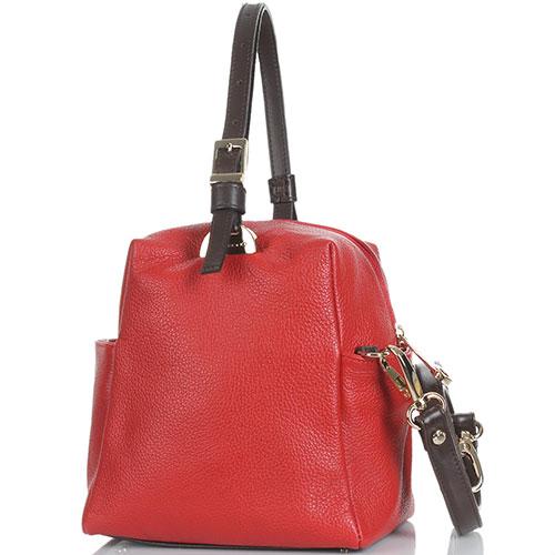Кожаная красная сумка Di Gregorio, фото