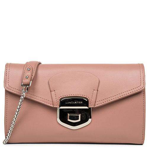 Сумка-клатч Lancaster Sophia розового цвета, фото