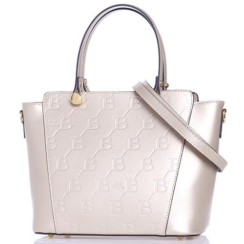 Бронзовая сумка Sara Burglar с тиснением лого бренда, фото