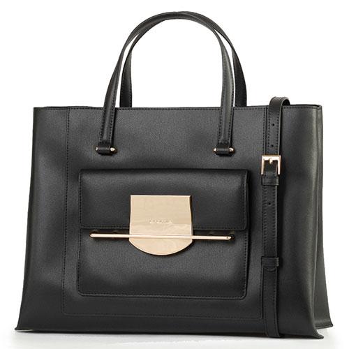 Черная сумка Cromia Romy с металлическим декором, фото
