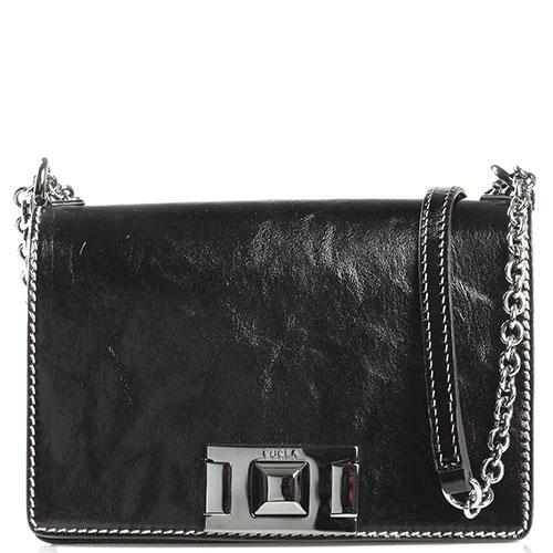 Лаковая маленькая сумка Furla Mimi на цепочке, фото