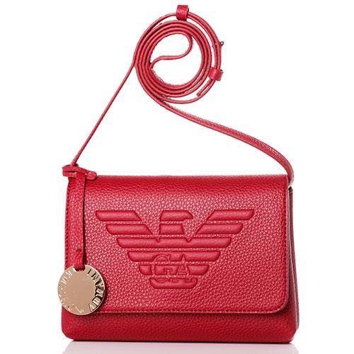 Женская сумка Emporio Armani красного цвета, фото
