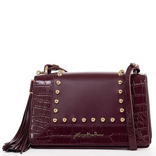 Бордовая сумка Baldinini Alma из комбинированной кожи, фото