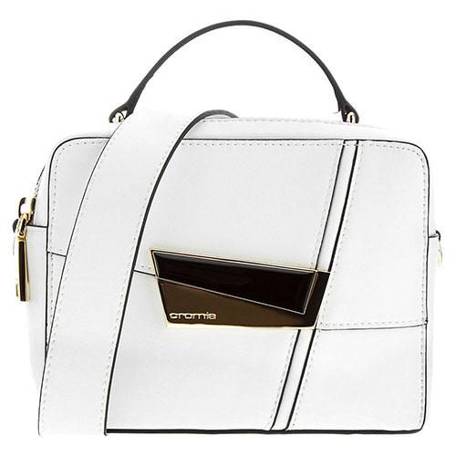 Белая сумка Cromia Spectrum квадратной формы, фото