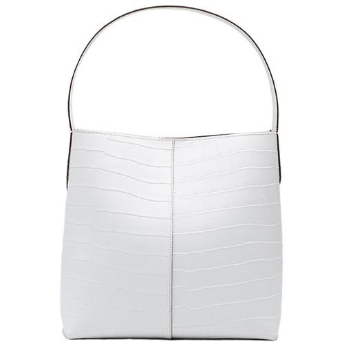 Белая сумка Ripani Waffle с тиснением кроко, фото