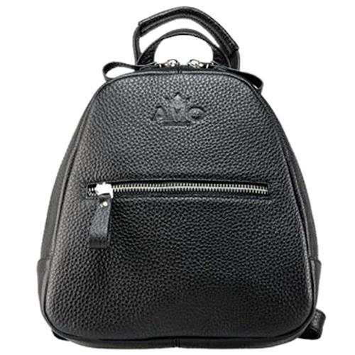 Черный рюкзак Amo Accessori Comfort с брендовым тиснением, фото