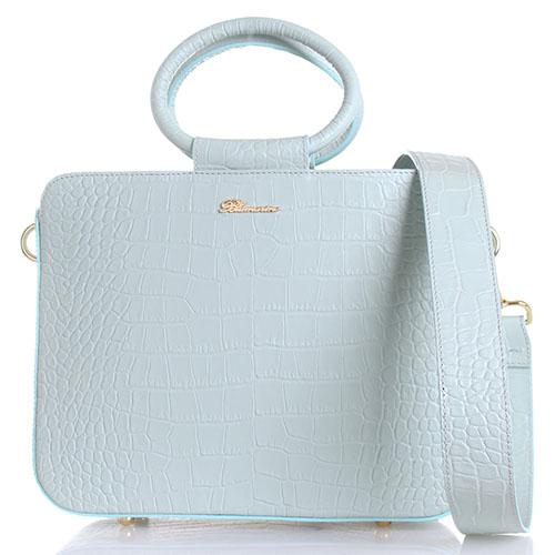 Мятная сумка Blumarine Odette с тиснением, фото