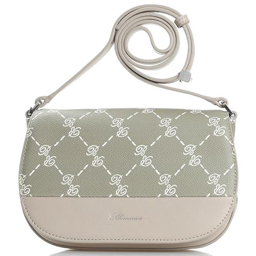 ae7056b6bdc2 ☆ Маленькая сумка Blumarine B Signature бежевого цвета купить в ...