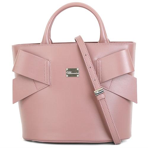 Розово-бежевая сумка Blumarine Jenny со съемным ремнем, фото