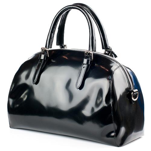 606334c9b7eb ☆ Деловая черная лакированная сумка Gianni Chiarini купить в Киеве ...