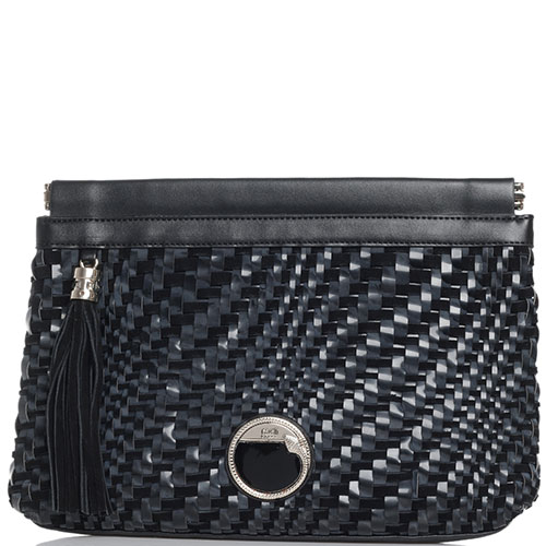 Плетеный клатч Cavalli Class Kati черный, фото